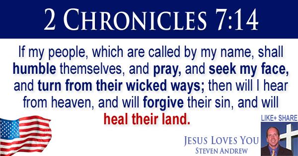 2 Chronicles 7:14 Steven Andrew